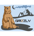 Grizzly bear background vector image vector image