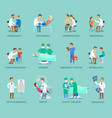 group of doctors banner in cartoon style vector image