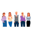 group portrait office business workers isolated vector image