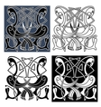 Heron birds with celtic knot patterns vector image vector image