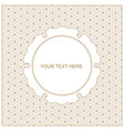 invitation template framegeometric gold lines vector image