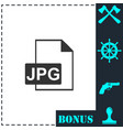 jpeg icon flat vector image vector image