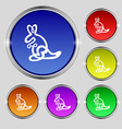 Kangaroo Icon sign Round symbol on bright vector image vector image