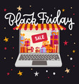 laptop with awning - black friday banner concept vector image