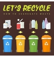 lets recycle waste concept vector image vector image