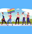 lgbt equality flat background vector image