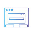 line window web technology element design vector image