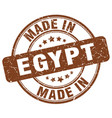 made in egypt brown grunge round stamp vector image vector image