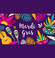 mardi gras banner template decorated by tropical vector image