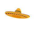 Mexican hat vector image vector image