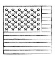 monochrome sketch of flag the united states in vector image vector image