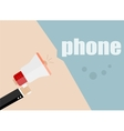 phone Megaphone Icon Flat design business vector image