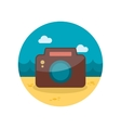 Photo Camera flat icon with long shadow vector image