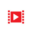 play video graphic icon design template vector image vector image