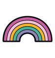 rainbow fantasy magic cute image vector image