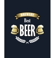Retro beer emblem or banner vector image vector image