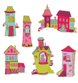 Scrapbook Design Elements - Little Houses Doodles vector image vector image
