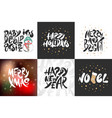 set greeting cards stamps stickers and posters vector image