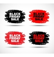 Set of Black Friday Sale hand drawn grunge stains vector image