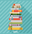 Set of books in flat design style