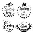 Set of lettering labels vector image vector image