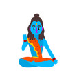 shiva indian god the supreme god in shaivism vector image vector image