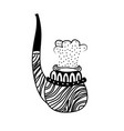 smoking pipe hand drawn vector image vector image