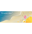 summer banner sea vector image vector image