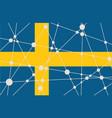 sweden flag concept vector image