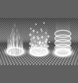 teleport light effects vector image