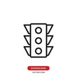 traffic lights icon vector image vector image