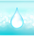 water drop on boken lights background vector image vector image
