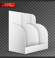 white pos poi cardboard blank empty show box vector image vector image