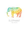 elephant creative colorful logo template vector image