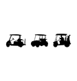 golf car Silhouettes vector image