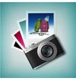 photo camera with snapshots vector image