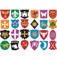 Heraldic symbols icon set vector image