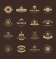 bakery shop logos badges and labels design vector image