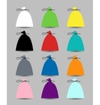 Set of caps for your design vector image