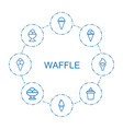 8 waffle icons vector image vector image