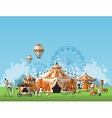 Abstract Classical Circus tent vector image vector image