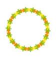 abstract jigsaw puzzle blank circle frame vector image vector image