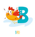 alphabet letter b and bird