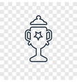 american football cup concept linear icon vector image