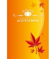 Autumn background with red orange maple leafs vector image vector image