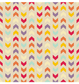 Aztec Chevron seamless colorful pattern vector image vector image