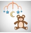 Baby shower design invitation design isolated