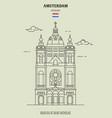 basilica saint nicholas in amsterdam vector image vector image