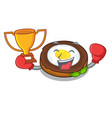 boxing winner scotch eggs at the mascot bowl vector image vector image