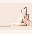 building cityscape line art silhouette vector image vector image